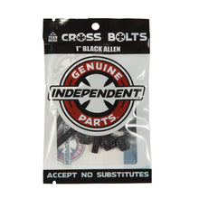 "Load image into Gallery viewer, Independent Cross Bolts - 1"" Allen (Black)"