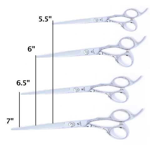 Hairdressing Scissors Sizes Example