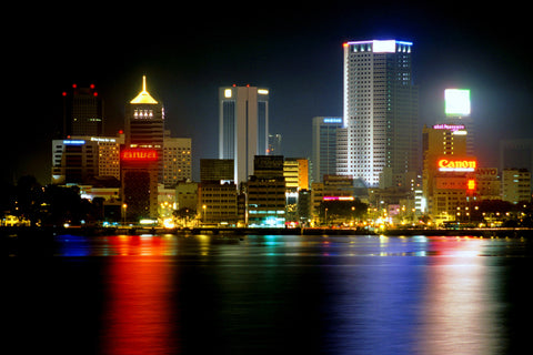 The city of Johor Bahru in Singapore
