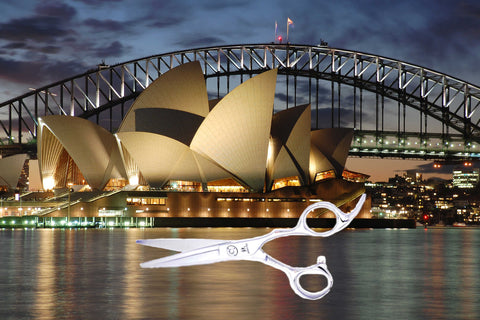 Sydney Opera House with a pair of hairdressing scissors image