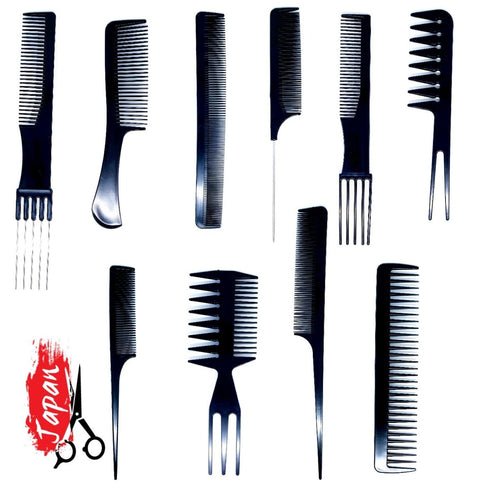 10 Piece Hair Scissor Comb Set - Japan Scissors