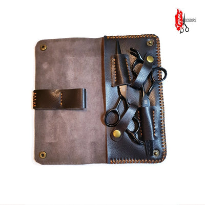 2pc Premium Leather Scissors Pouch - Japan Scissors
