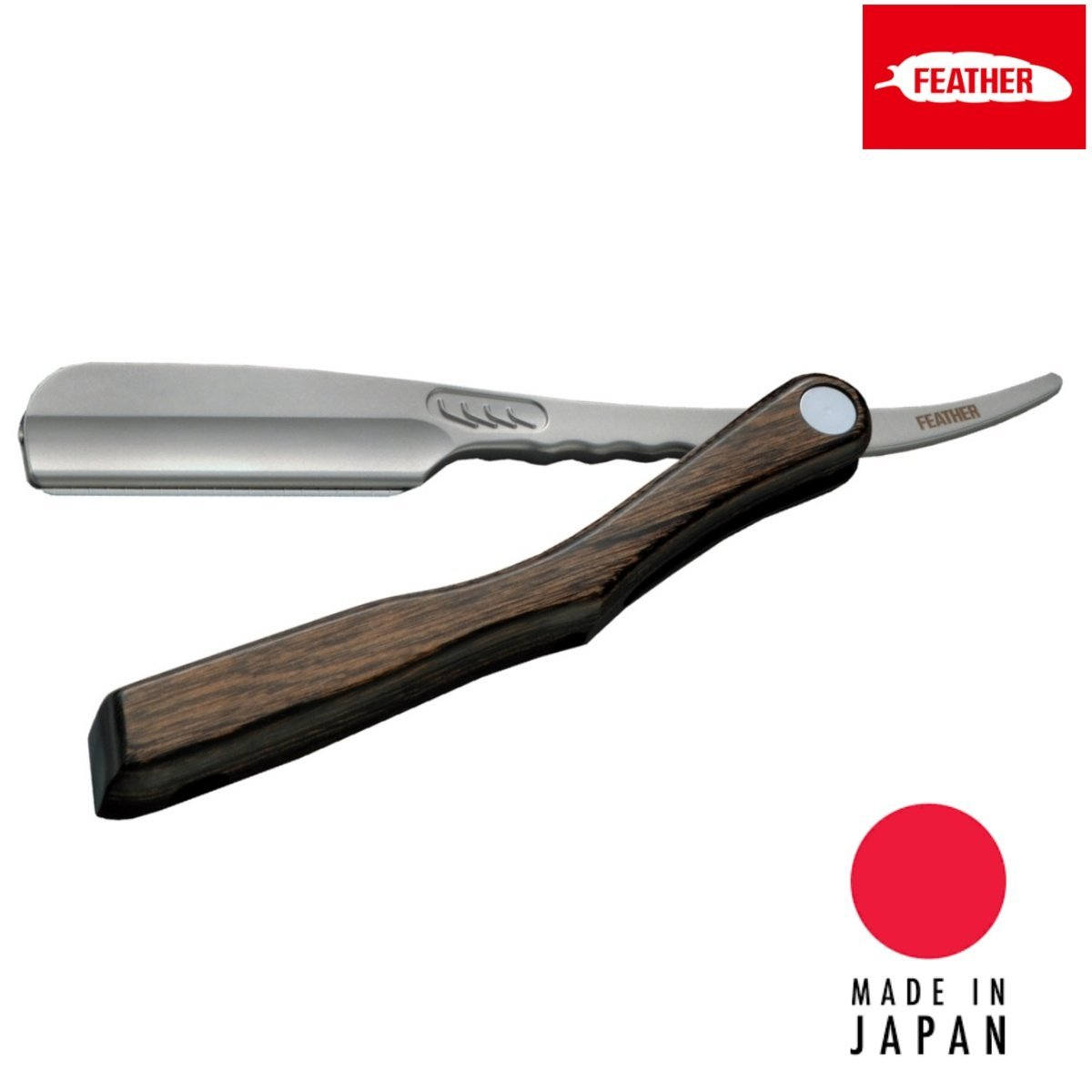 Feather Japan Artist Club SS Wooden Folding Razor - Japan Scissors