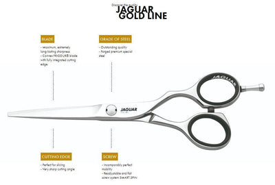 Jaguar Gold Line Diamond E Offset Hair Scissors - Japan Scissors