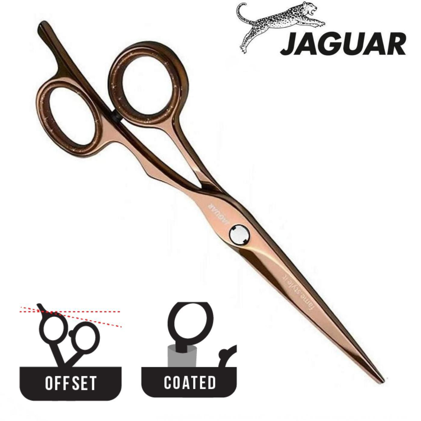 Jaguar Silver Line Fame Rose Gold Hair Scissors - Japan Scissors
