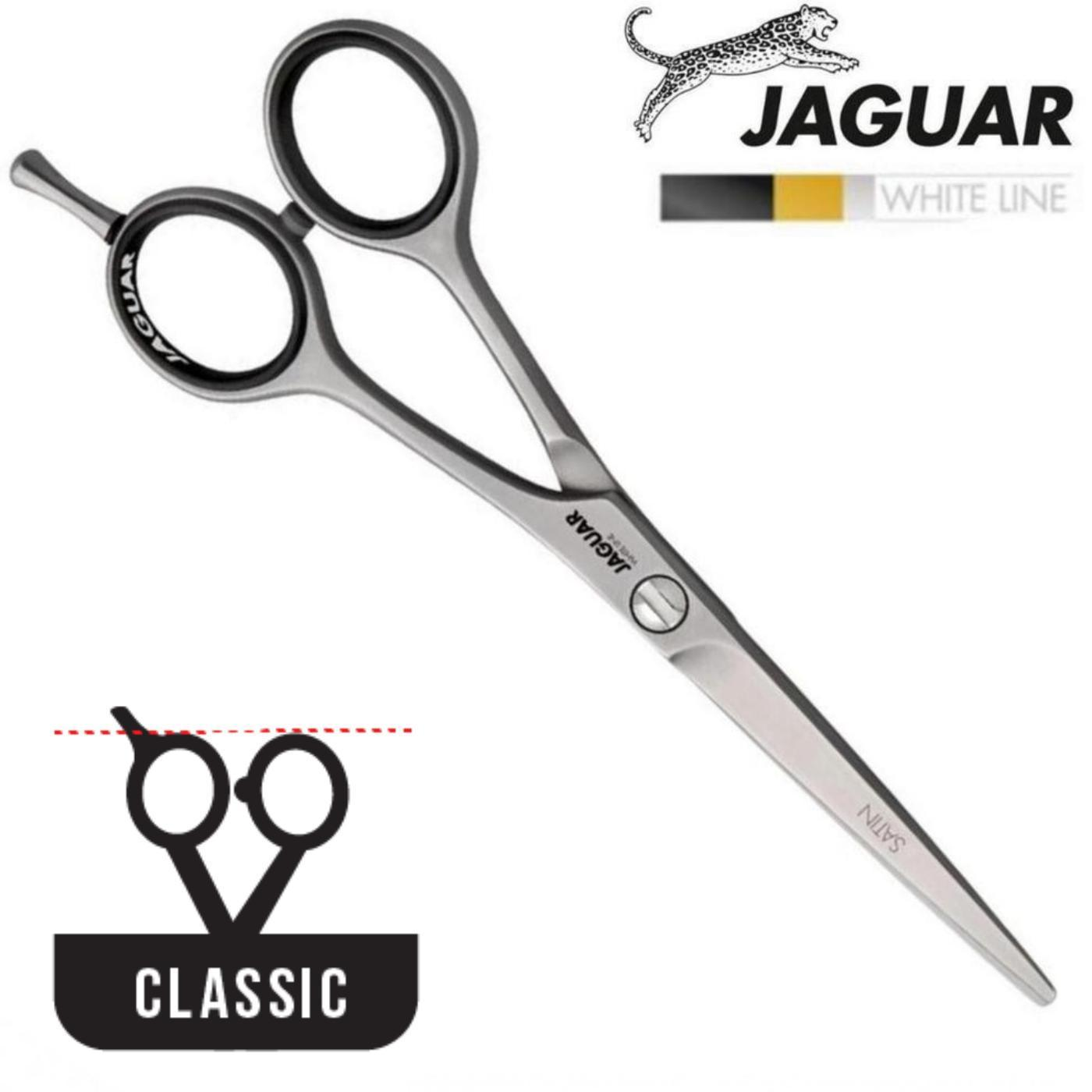 Jaguar White Line Satin Hairdressing Scissors - Japan Scissors