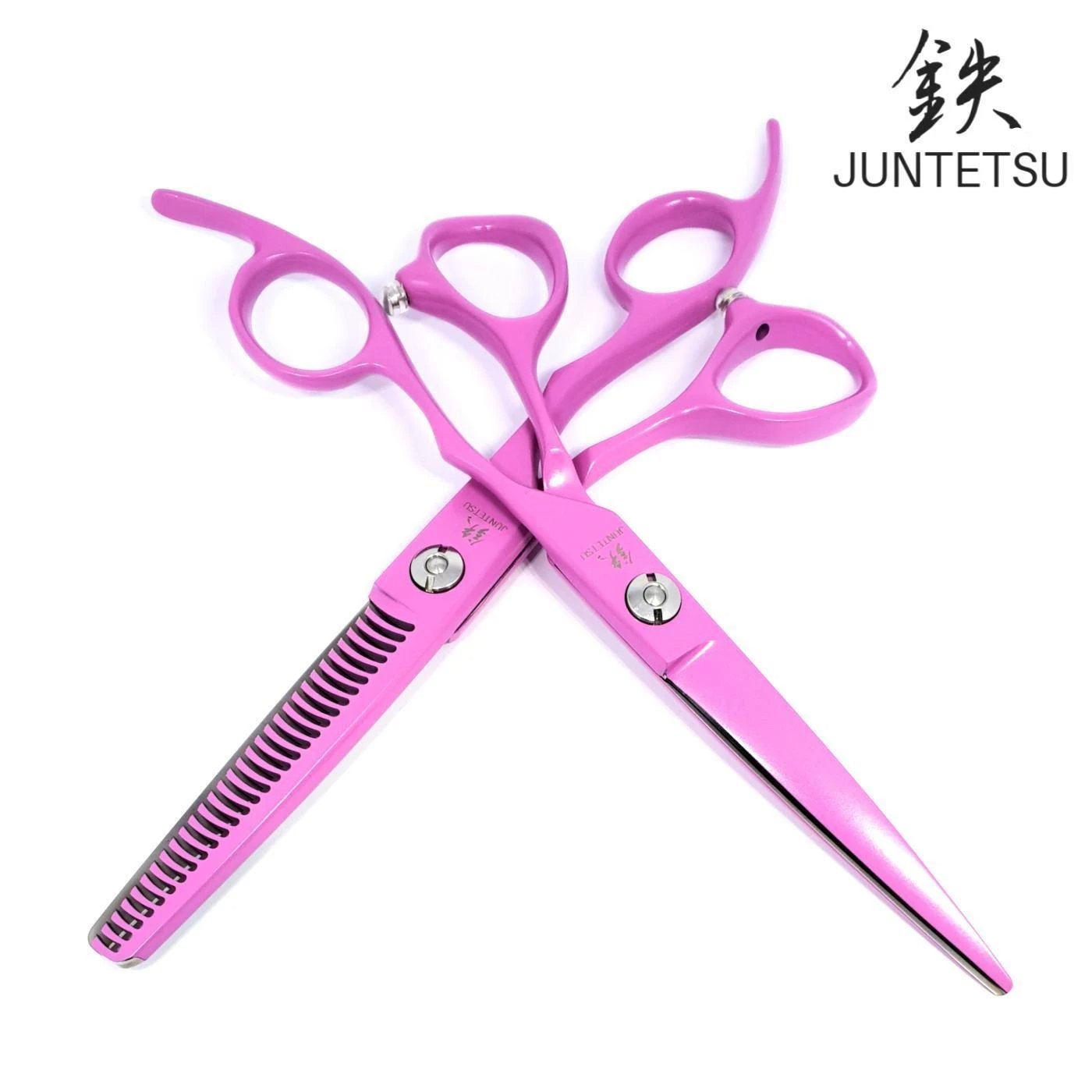 Juntetsu Pink Cutting & Thinning Scissors Set - Japan Scissors