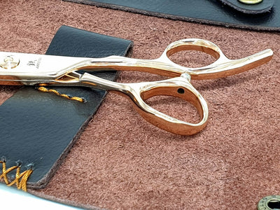 Juntetsu Rose Gold Thinning Scissors - Japan Scissors