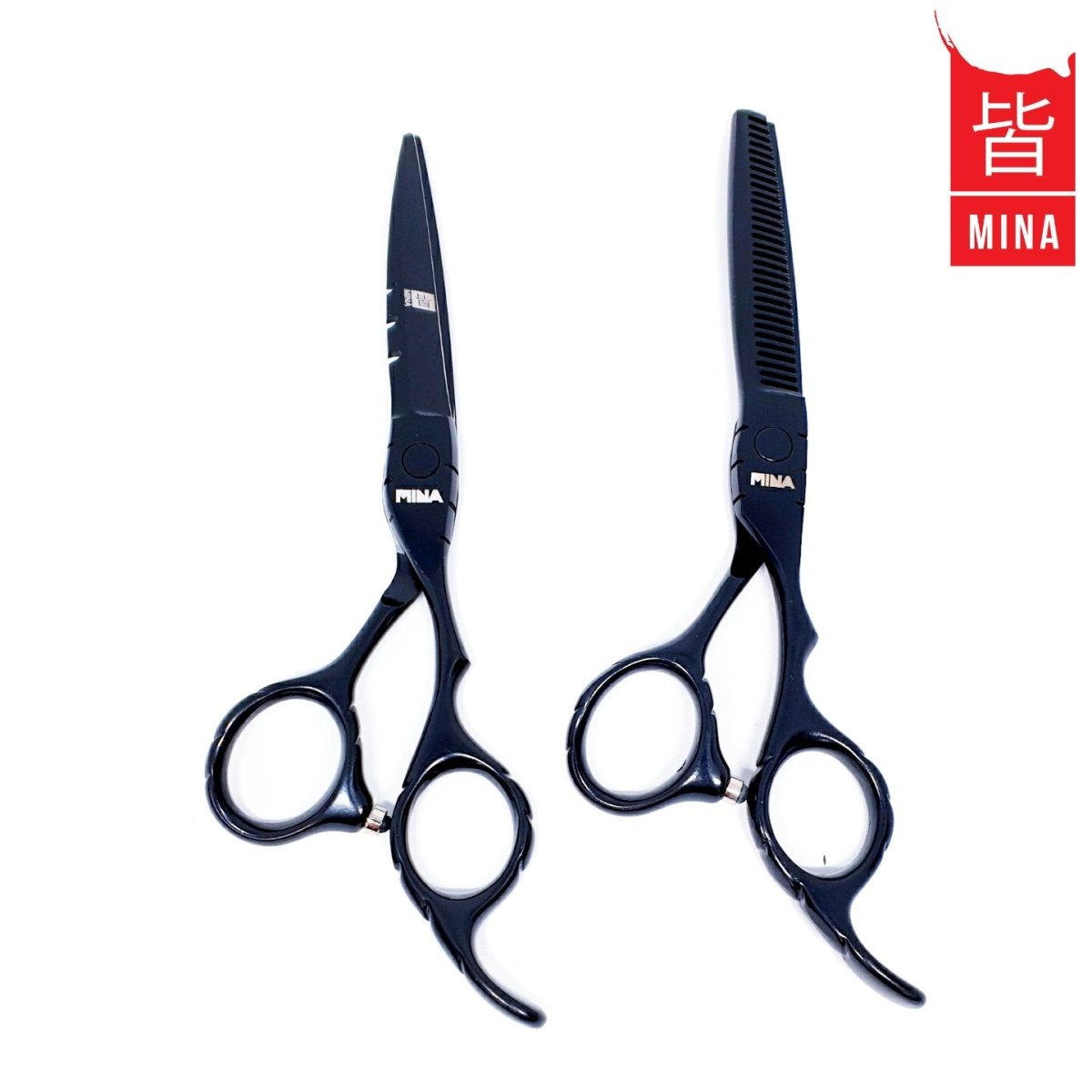 Mina Matte Black Scissors Offset Set - Japan Scissors