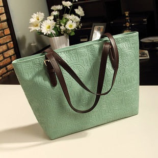 Plain PU Korean Embossing Tote Bags