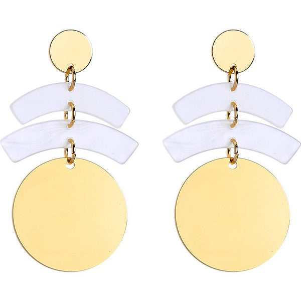 European Alloy E-Plating Birthday Earrings