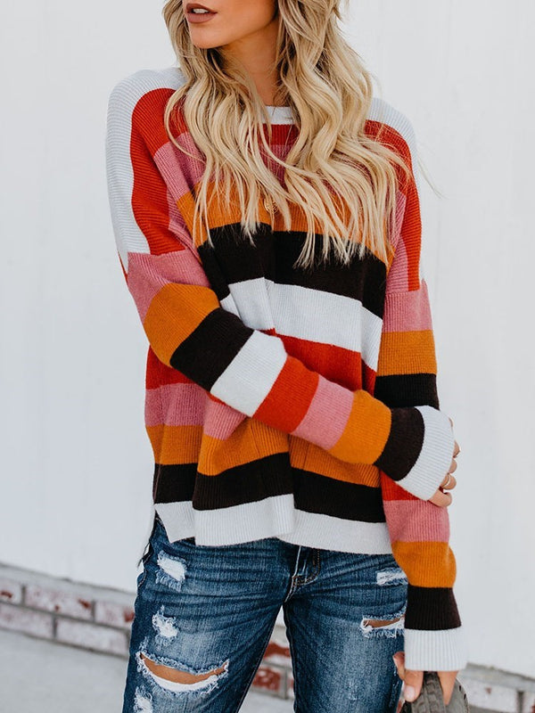 Regular Round Neck Long Sleeve Sweater