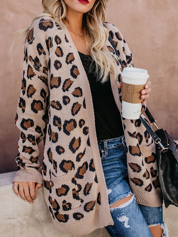 Regular Print Long Sleeve Mid-Length Sweater