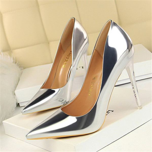 Slip-On Pointed Toe 10.5cm Thin Shoes
