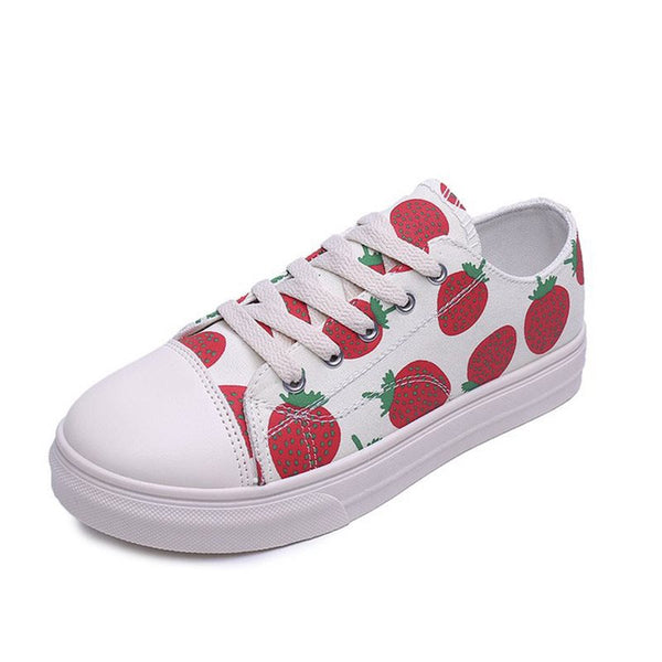 Low-Cut Upper Lace-Up Round Toe Platform Casual Platform Sneakers