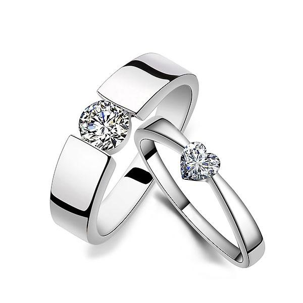 European Alloy E-Plating Wedding Rings