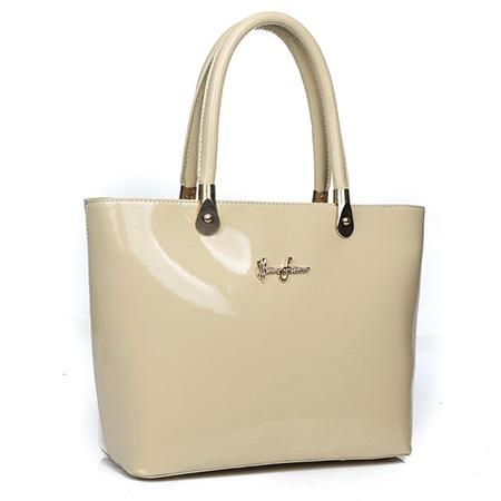 PU Plain Thread OL Tote Bags