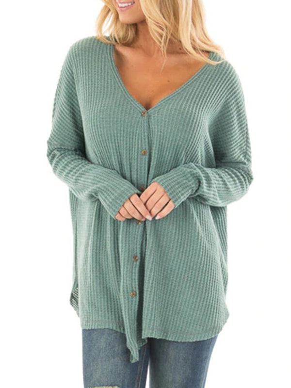 Single-Breasted Regular Spring Long Sleeve Sweater