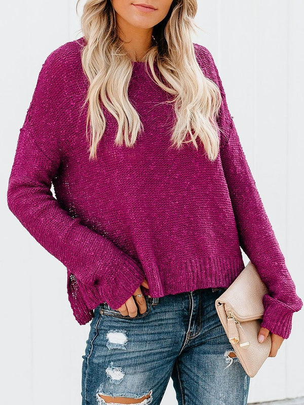 Regular Round Neck Straight Sweater
