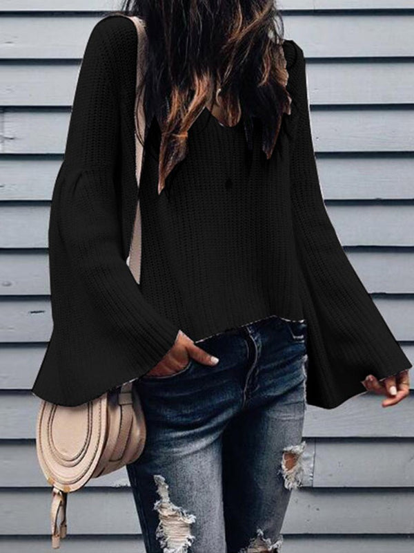 Flare Sleeve Loose Standard Sweater