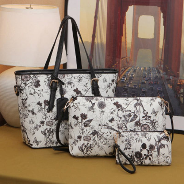 Thread Floral PU Korean Tote Bags