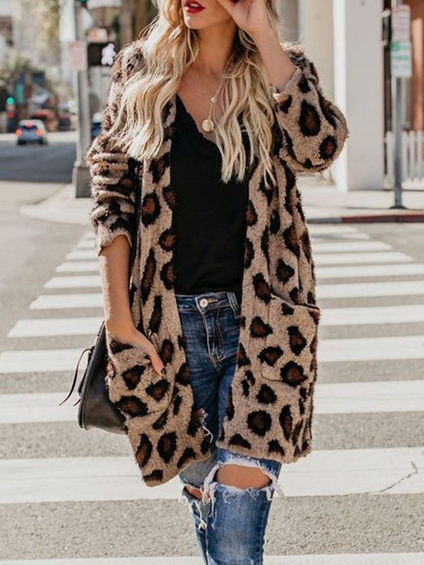 Regular Print Loose Mid-Length Sweater