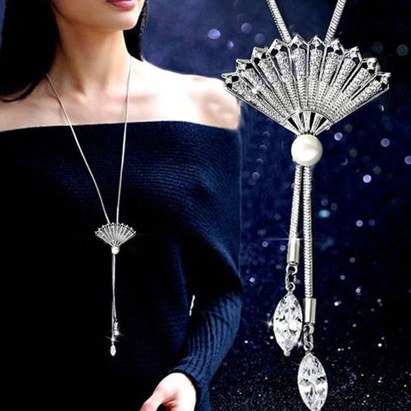 Crystal Inlaid Japanese Pendant Necklace Female Necklaces
