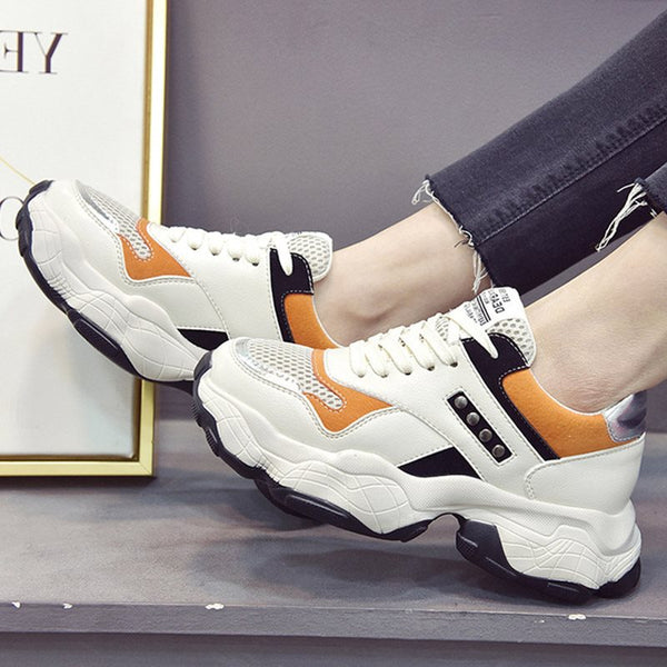 Lace-Up Low-Cut Upper Cross Strap Round Toe Microfiber Leathe Casual Sneakers
