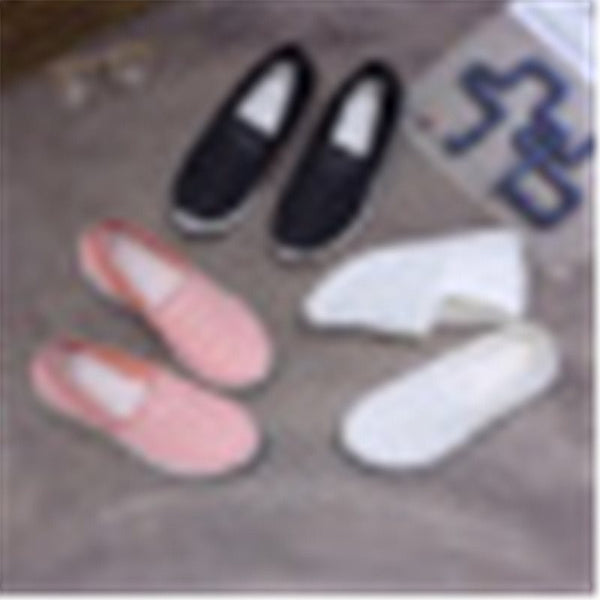 Low-Cut Upper Slip-On Closed Toe Plain Cloth Sneakers