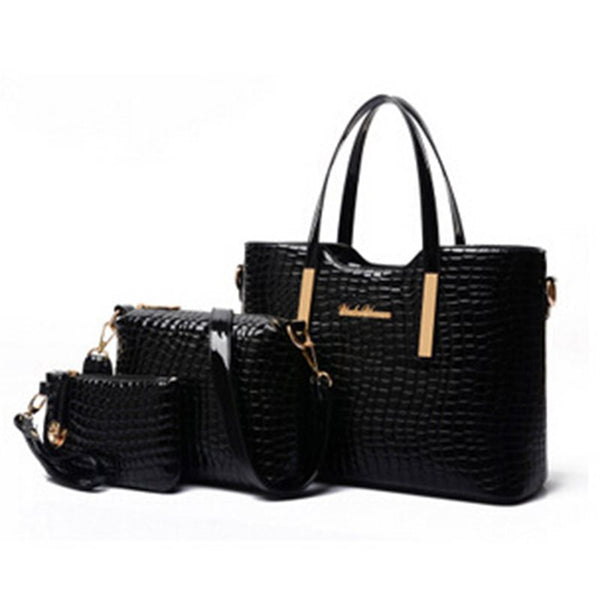 Plain PU Embossing Fashion Tote Bags