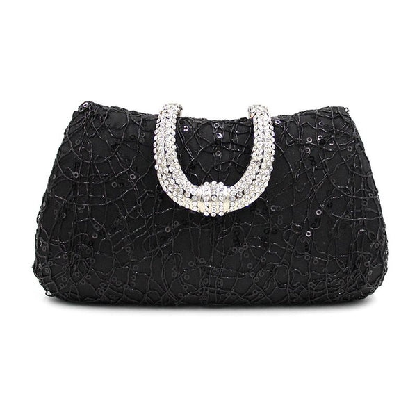 Pillow Banquet Rhinestone European Clutches & Evening Bags