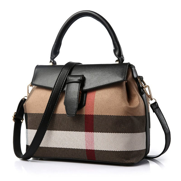 Thread Stripe Korean PU Tote Bags