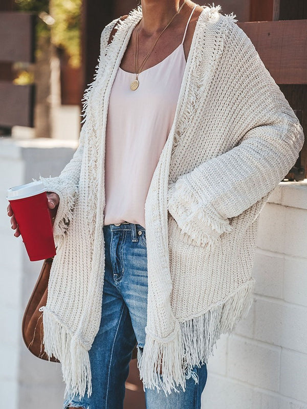 Tassel Regular Mid-Length Loose Sweater