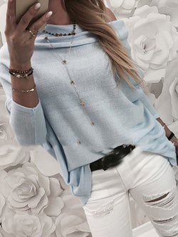 Hollow Long Sleeve Slim Sweater