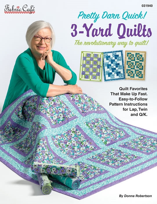 Pretty Darn Quick 3 Yard Quilts Pattern Book T10 - Daz Fabrics