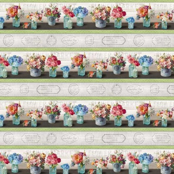Flower Market Collection by Danhui Nai - Repeating Stripe Multi - Y725 - Daz Fabrics