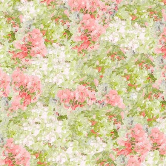 Flower Market Collection by Danhui Nai - Green/Pink Hydrangeas  - Y721 - Daz Fabrics