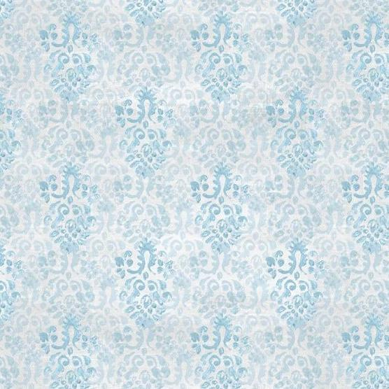 Flower Market Collection by Danhui Nai - Medallion Blue/Gray - Y722 - Daz Fabrics