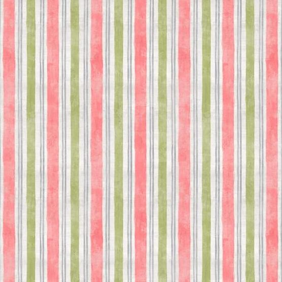 Flower Market Collection by Danhui Nai - Stripe Pink - Y727 - Daz Fabrics