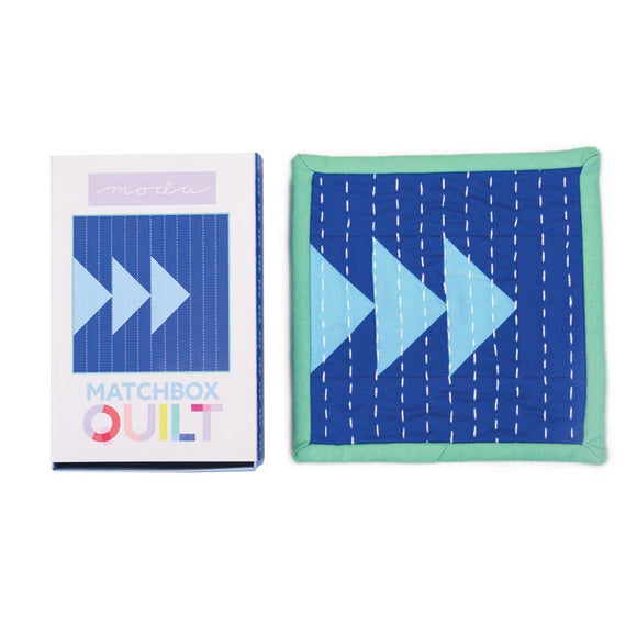 Matchbox Quilt - Blue - Kit