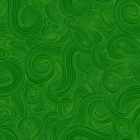 Just Color! Swirl by Studio e Fabrics  - Green - Y229 - Daz Fabrics