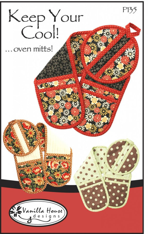 Keep Your Cool Oven Mitt by Vanilla House Designs - Pattern T47 - Daz Fabrics
