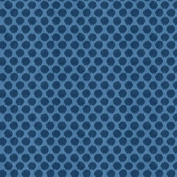 Summertime Collection by Wilmington Prints - Sketchy Dots Blue  - Y163 - Daz Fabrics