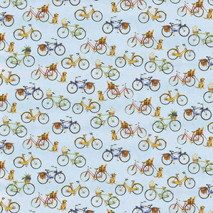 Coastal Paradise Collection by Barb Tourtillotte - Bicycles Blue - Yardage - Daz Fabrics