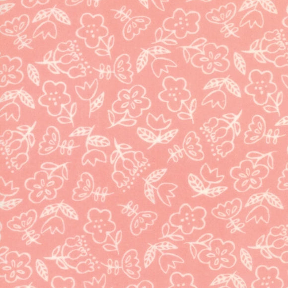 Soft & Sweet Flannel Collection by Stacy lest Hsu - Pink - Yardage - Daz Fabrics