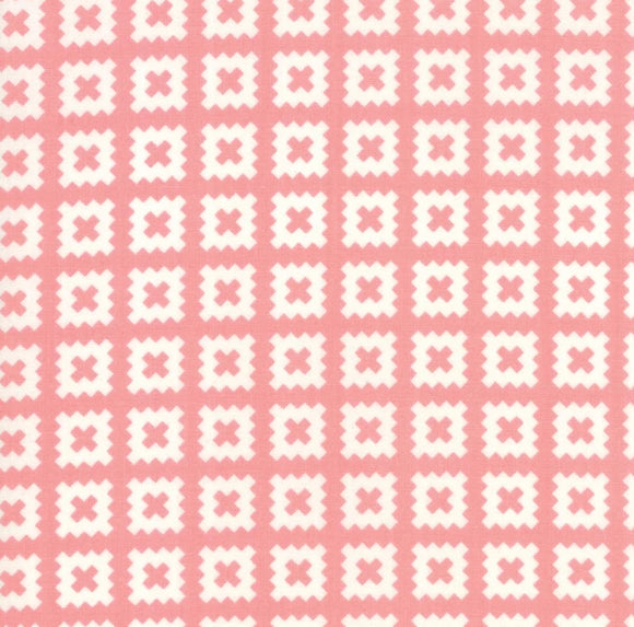 Little Snippets Collection by Bonnie & Camille - Little Snippets Coral - Yardage - Daz Fabrics
