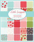 Little Snippets Collection by Bonnie & Camille  - Little Snippets Aqua Cream - Yardage - Daz Fabrics