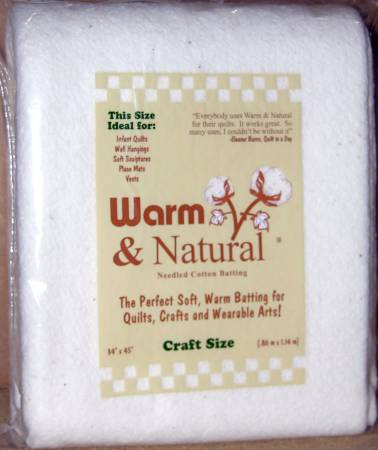 Warm & Natural Batting - Craft Size N40 - Daz Fabrics