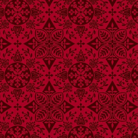 Black, White & Red Hot by Color Principle - Medallion Red - Y328 - Daz Fabrics