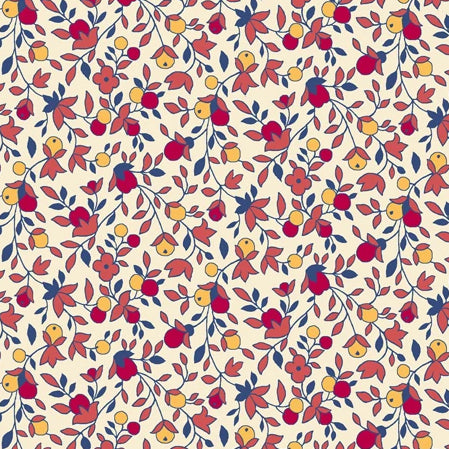 Harlow by QT Fabrics - Floral & Vine Coral - 16